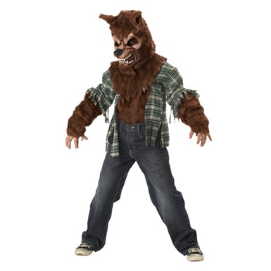 Boys Furry Werewolf Costume