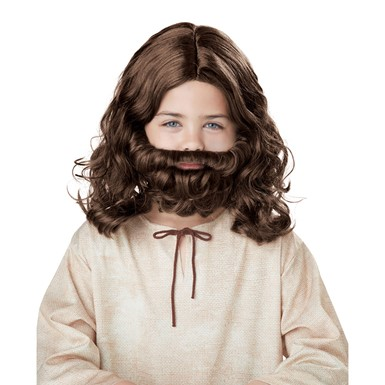 Boys Jesus Halloween Wig and Beard