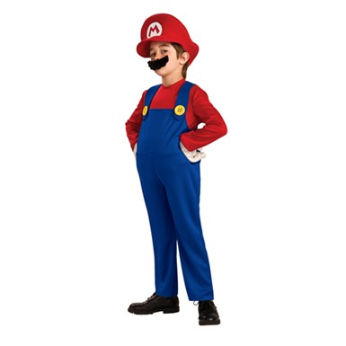 Boys Mario Halloween Costume - Deluxe Super Mario Bros.