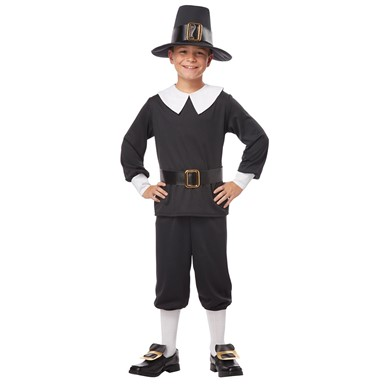 Boys Pilgrim Colonial Halloween Costume