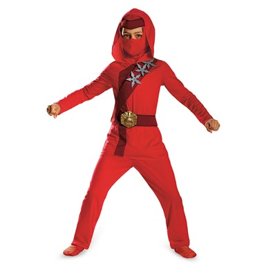 Boys Red Fire Ninja Classic Costume