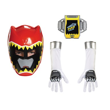 Boys Red Power Ranger Dino Charge Accessory Kit
