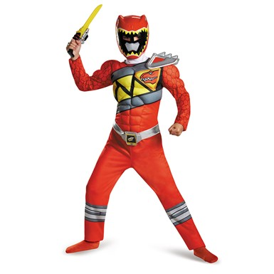 Boys Red Ranger Dino Charge Classic Muscle Costume