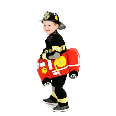 Boys Ride-In Fire Truck Halloween Costume size 2T-4T