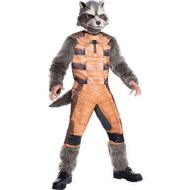 Boys Rocket Raccoon Guardians Deluxe Costume