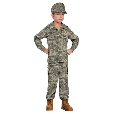 Boys Soldier Military Halloween Costume