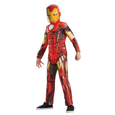 Boys Standard Iron Man Muscle Costume