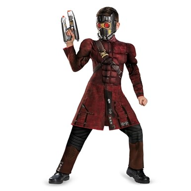 Boys Star-Lord Classic Muscle Halloween Costume
