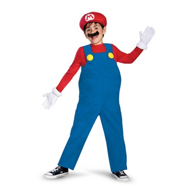 Boys Super Mario Costume - Deluxe