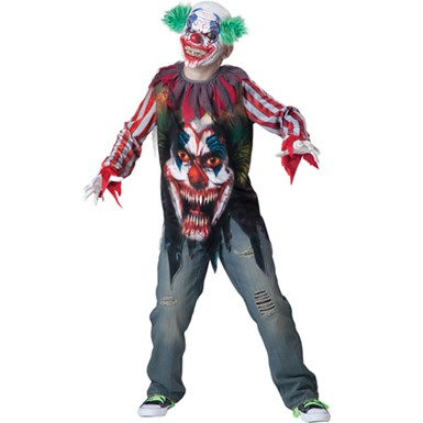 Boys Terror Clown Evil Halloween Costume