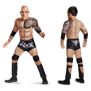 Boys The Rock Muscle Costume