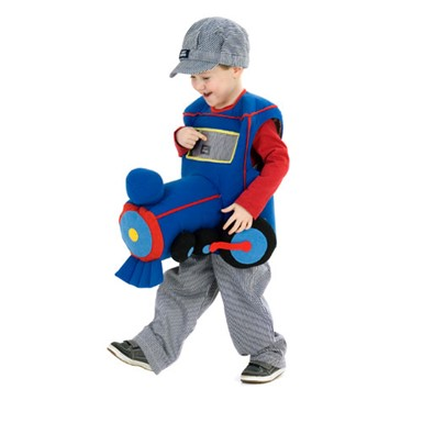 Boys Train Engine Infant Halloween Costume size 2T-4T