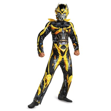 Boys Transformers Bumblebee Muscle Movie Costume
