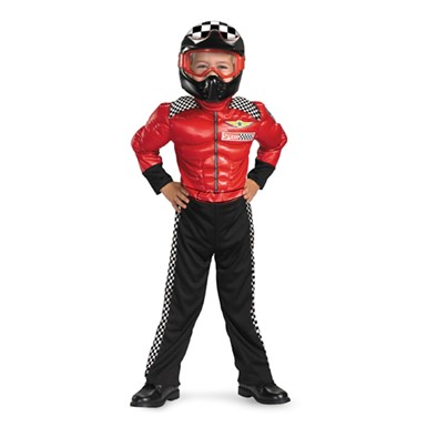 Boys Turbo Car Racer with Muscles Halloween Costume