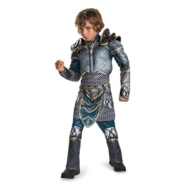 Boys Warcraft Muscle Lothar Costume
