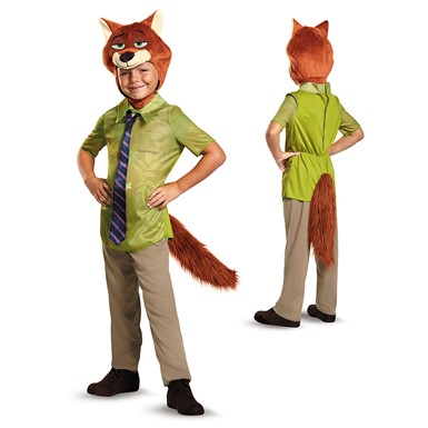 Boys Zootopia Nick Wilde Fox Costume
