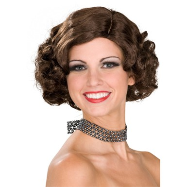 Brown Flapper Wig - Womens