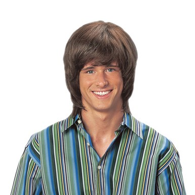 Brown Shag Wig - Mens