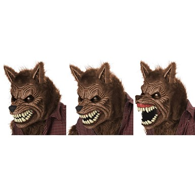 Brown Werewolf Deluxe Mask