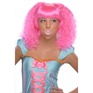 Bubble Gum Pink - Womens Wig