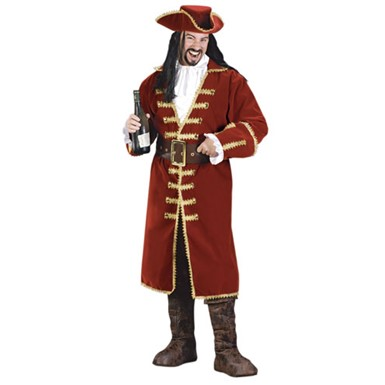 Captain Black Heart Buccaneer Mens Halloween Costume