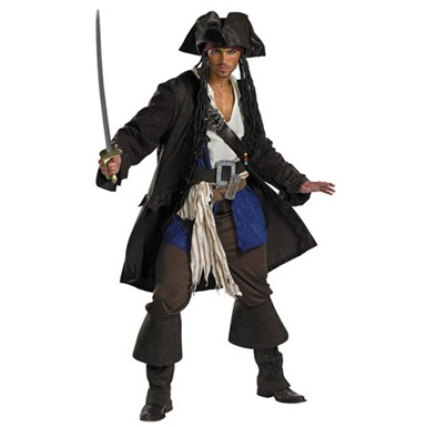 Captain Jack Sparrow Costume - Adult Prestige