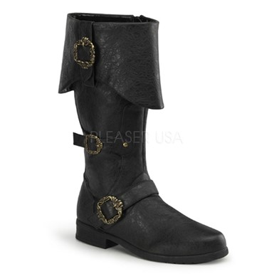 Caribbean Pirate Boots - Black