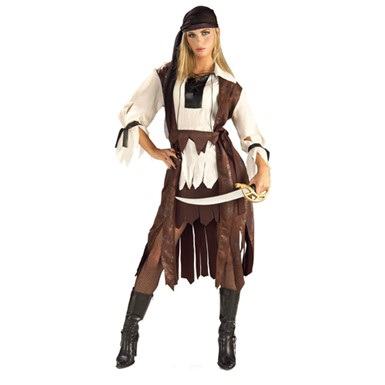 Carribean Pirate Babe Adult Standard Size Costume