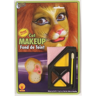 Cat Face Makeup Kit with Nose Halloween Costume