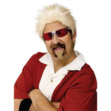 Celebrity Chef Wig Guy Fieri Costume Accessory Goatee