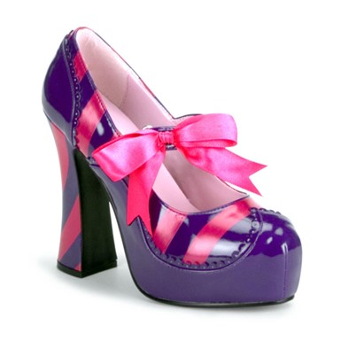 Cheshire Cat Shoes - Purple Heels