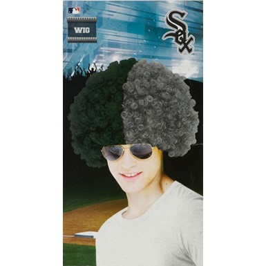 Chicago White Sox Wig MLB Baseball Halloween Accessory