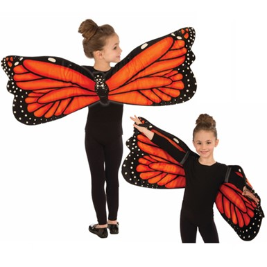 Child Butterfly Plush Wing Set Halloween Costume Accessory
