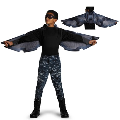 Child Captain America Falcon Wings Set Costume Accessory