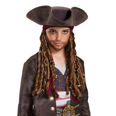 Child Captain Jack Hat, Bandana & Dreads Wig