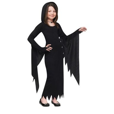Child Hooded Gown Vampire Halloween Costume
