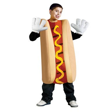 Child Hot Dog Funny Costume Standard Size Up to 14