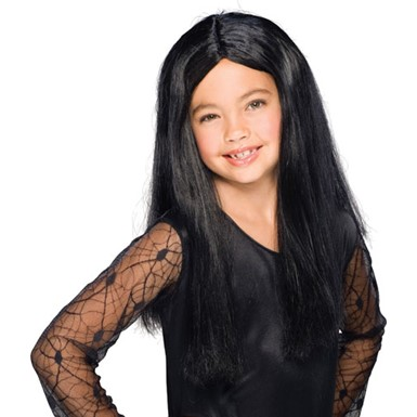 Child Masquerade Wig - Black