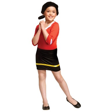 Child Olive Oyl Popeye Costume