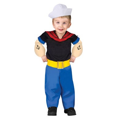 Child Popeye Cartoon Hero Halloween Costume
