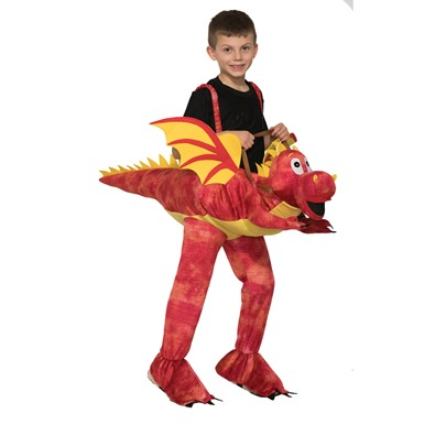 Child Red Dragon Ride-On Costume Size Standard