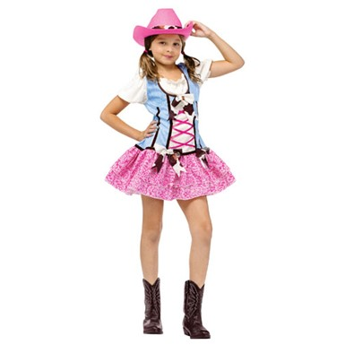 Child Rodeo Sweetie Cowgirl Halloween Costume