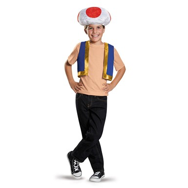 Child Super Mario Toad Halloween Kit