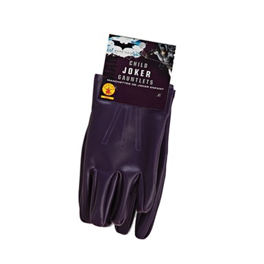 Child The Joker Gloves Costume Accessories