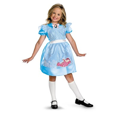 Classic Girls Alice in Wonderland Halloween Costumes