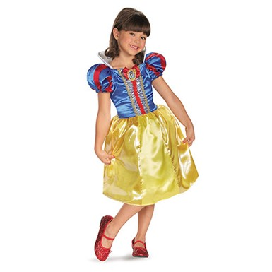 Classic Snow White Sparkle Costume - Girls