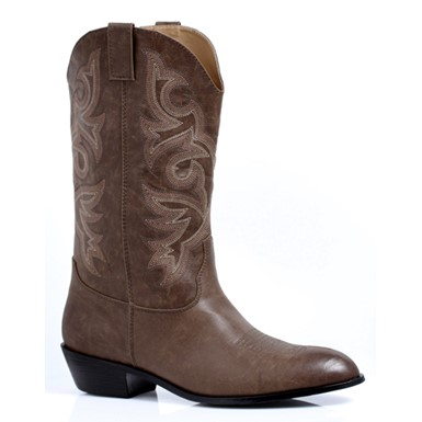 Clint Mens Brown Cowboy Halloween Costume Boots