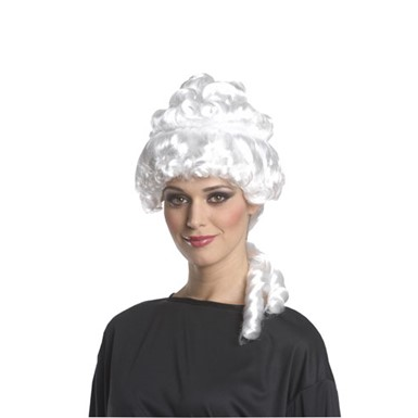 Colonial Woman White Costume Wig