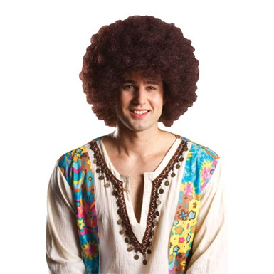 Costume Afro Wig - Brown