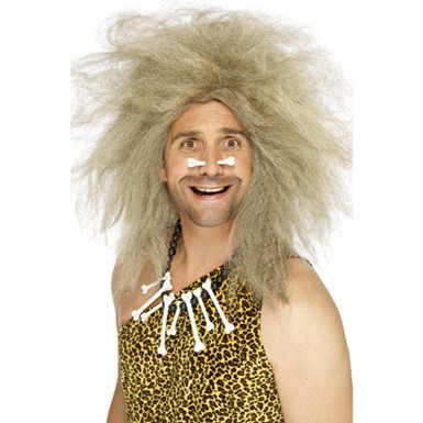 Crazy Caveman Wig - Blonde